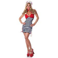 Sailor Costume Adult Pin Up Girl Halloween Fancy Dress