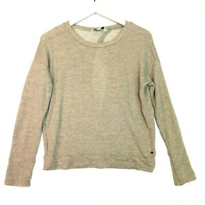 American eagle keyhole back long sleeve knit top beige size small  s