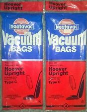 Nautavac Vacuum Bags Style 210 for Hoover Upright Type C Disposable 2 Four Packs
