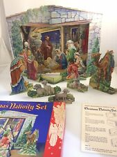 Christmas Nativity Set, Story of the First Christmas in Colorful Cut-Out Scenes