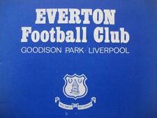 Everton Home Teams Football League Fixture Programmes