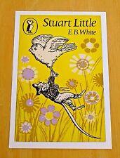 PUFFIN BOOK COVER POSTCARD - STUART LITTLE BY E. B. WHITE ~ 1969 DESIGN ~ NEW