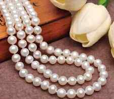 80%OFF 8-9mm 30/35/40/45inch AAA Akoya Cultured Natural White Pearl Necklace