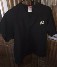 Washington Redskins Black Scrub Shirt Small