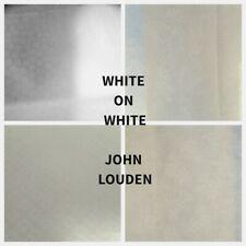 TEJIDO ARTESANAL acolchar/100% algodón blanco sobre blanco elección de 4 Diseños