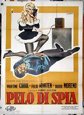 manifesto 2F originale PELO DI SPIA Martine Carol Henry Decoin  1959 Simeoni art