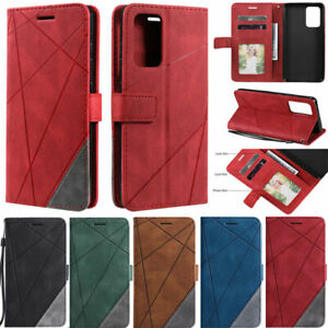 Splice Wallet Leather Flip Cover Case For Samsung S21 S20 S10 S9 A52 A22 A12 A32