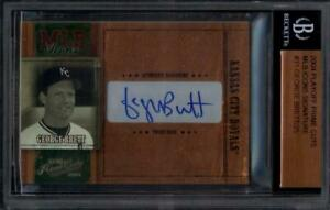 2004 Prime Cuts MLB Icon Signature MLB31 George Brett Auto MINT BGS Slabbed 7/25