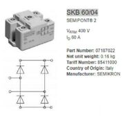 NEW SEMIKRON Power Bridge Rectifier SKB60/04 SKB60-04