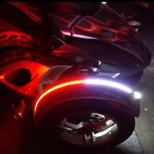 Can Am Spyder RS ST RT F3 Dual Color Fender Channel LED Flex Strips Red White 1x