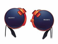 Sony Japan Clip-on Stereo Headphones with Retractable MDR-Q38LW LI Spicy Blue