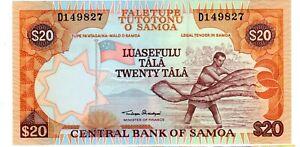 SAMOA Billet 20 TALA ND 2002 P35a PECHEUR UNC NEUF