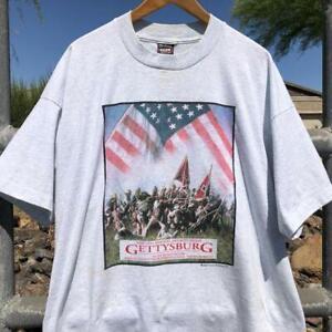 Rare VTG 90s Gettysburg 1994 Turner Pictures Movie Promo War T Shirt 3XL