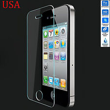 TEMPERED GLASS SCREEN PROTECTOR LCD GUARD FILM FOR APPLE IPHONE 4 4S USA