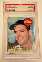 1969 Topps #262 Mike Kekich PSA 8 NM-MT New York Yankees baseball card