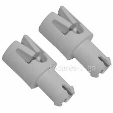 2 x HOTPOINT Genuine Dishwasher Wheel Runner Axle Pin Upper Basket Roller