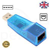RJ45 Ethernet to USB 2.0 LAN Network 10/100Mbps Card Adapter Converter PC Laptop