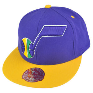 NBA Mitchell Ness Utah Jazz TU20 2 Tone XL Logo Fitted Hat Cap