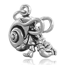 Hermit Crab Charm Sterling Silver .925 Crustacean CMSLCB03