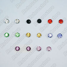 Crystal Stone Silver Magnet Stud Earrings - Magnetic Mens Womens Fashion - NEW