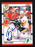 Troy Murray signed autograph auto 1990 Score Hockey Card French Version
