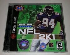 NFL 2K1  (Sega Dreamcast, 2000) Complete with Holo Logo
