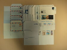 USPS Scott Air Post Stamped Envelopes Air Letter Sheets Lot of 42 1946 to 1989