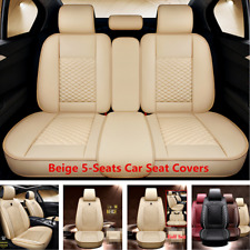 Luxury PU Leather Car Seat Covers Full Set Front Rear For Interior Accessories