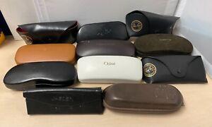 11 x Branded Designer Glasses Case Bundle Tom Ford Chloe Tommy Hilfiger G260 A28