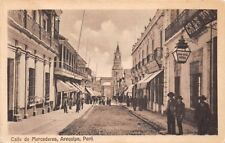 AREQUIPA, PERU, CALLE DE MERCADERES, Mailed without stamp so Postage Due Mark