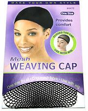 ANNIE MESH WEAVING CAP WIG WEAVE EXTENSION CLOSED TOP BLACK (#4472)