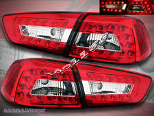 2008-11 MITSUBISHI LANCER / EVOLUTION RED CLEAR LED TAIL LIGHTS LAMPS