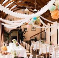 Papier Guirlandes Flora fête de mariage suspendu au plafond Bannière Déco rLTRFR