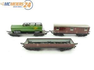 E249 H0 3x Güterwagen Kesselwagen Niederbordwagen DB