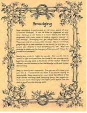 Book of Shadows Spell Pages ** How to Perform a Smudging Ritual ** Wicca Witchcr