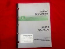 John Deere Trailfire Snowmobile Parts Catalog