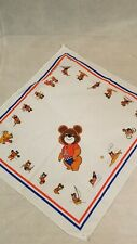 VINTAGE HANKIE MISHA BEAR MOSCOW MADE IN USA 1980 OLYMPIC     -