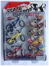 Pack De 3 Mini BMX + 5 Mini Skateboard Pour Doigt