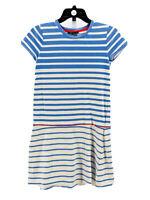 Vince Youth Girl's Blue Striped Short Sleeve Drop Waist Dress Size XL