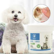 120Pcs Pet Eye Wet Wipes Dog Cat Grooming Tear Stain Remover Clean Wet Towel NEU