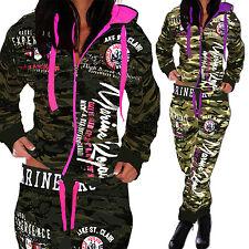 Camouflage Damen Jogginganzug Jogging Hose Jacke Sportanzug Army Trainingsanzug