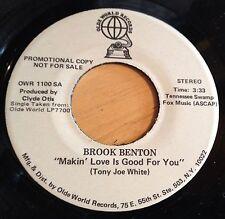 Brook Benton 45 Makin' Love Is Good For You  mono/stereo PROMO  NM