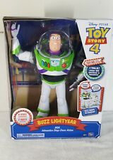 Toy Story 4 Buzz Lightyear with Interactive Drop Down Action (NEW)