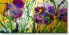 Art Blumen Unikat Bilder Gemälde Abstrakt Handgemalt Kunst Art Nr. 900