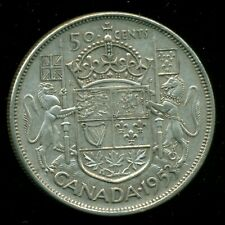 1953 LD Queen Elizabeth II, Silver Fifty Cent Piece  I67
