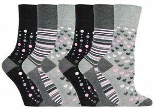 12 Pairs Ladies Gentle Grip® Bamboo Socks Non Binding Blend Non Elastic Socks