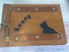 Vintage Wood Snaps Photo Album Book Scottie Dog 40's