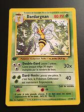 Carte Pokemon DARDARGNAN 17/102 Rare Set de base EDITION 1 NEUF Française