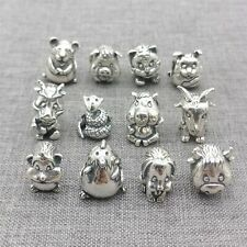 925 Sterling Silver Chinese Zodiac Bead Large Hole for Bracelet