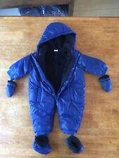 Baby Boys 3 Pommes Super Soft Warm Snowsuit Gloves Booties 6-9-12 Months Blue